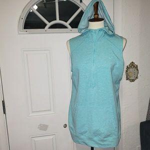 Nike Blue Vest  Hoody Half Zip L(Girl's)Pockets